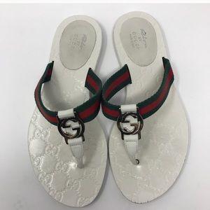 Gucci White Sandal Size 5.5